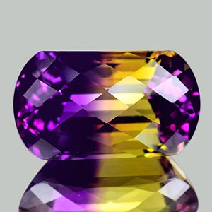 24.45 Ct. Clean Fancy Hydrothermal Bi Color Ametrine