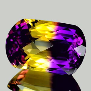 28.71 Ct. Clean Fancy Hydrothermal Bi Color Ametrine