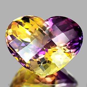38.06 Ct. Clean Heart Hydrothermal Bi Color Ametrine