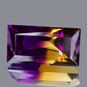 30.85 Ct. Clean Baguette Hydrothermal Bi Color Ametrine