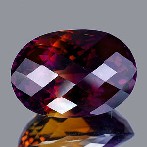 46.50 Ct. Clean Oval Checkerboard Hydrothermal Bi Color Ametrine