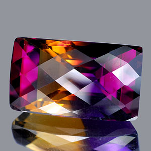 32.10 Ct. Clean Baguette Checkerboard Hydrothermal Bi Color Ametrine