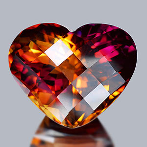 32.12 Ct. Clean Heart Checkerboard Hydrothermal Bi Color Ametrine