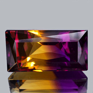 28.19 Ct. Clean Baguette Hydrothermal Bi Color Ametrine