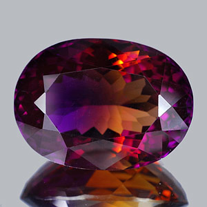 46.16 Ct. Clean Oval Hydrothermal Bi Color Ametrine