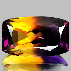 31.85 Ct. Clean Cushion Hydrothermal Bi Color Ametrine