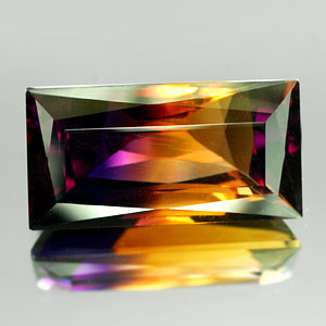 26.30 Ct. Clean Baguette Hydrothermal Bi Color Ametrine