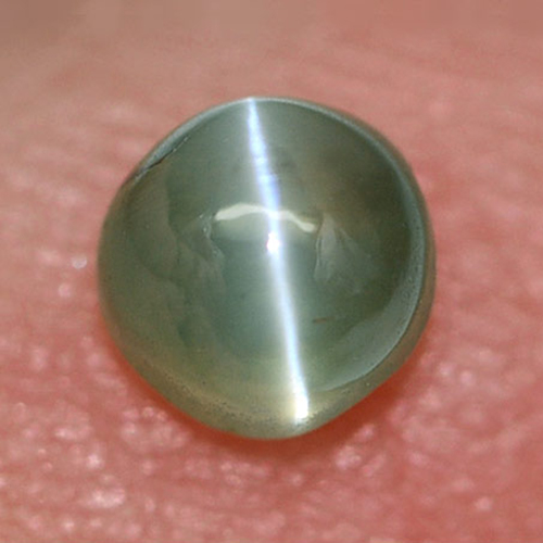 Unheated 0.60 Ct. Round Cabochon Natural Gemstone Green Cats Eye Alexandrite