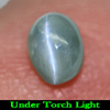 0.65 Ct. Oval Cabochon Natural Gemstone Green Cats Eye Alexandrite Unheated
