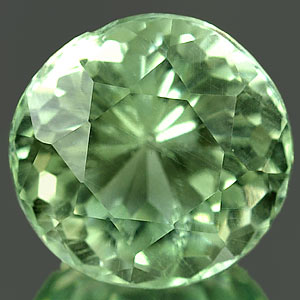 1.78 Ct. Clean 7.7 Mm. Natural Green Amethyst Brazil