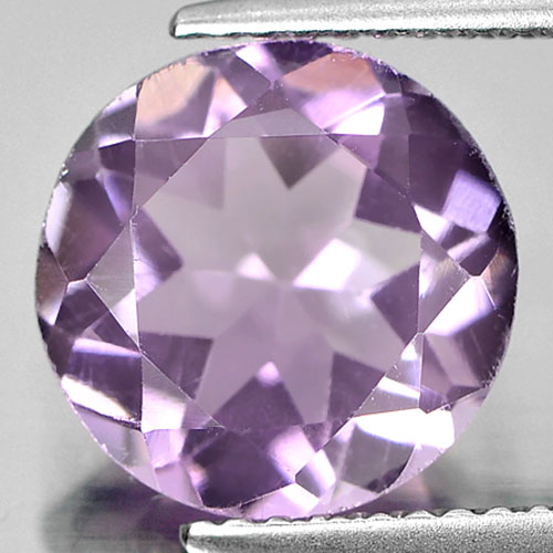 3.26 Ct. Natural Gem Purple Amethyst Round Shape Unheated