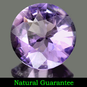 1.49 Ct. 8.6 Mm. Round Natural Purple Amethyst Brazil