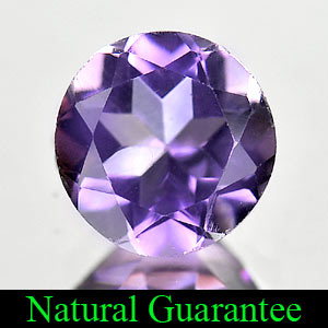 2.26 Ct. Natural Gem Purple Amethyst Round Shape From Brazil Unheated
