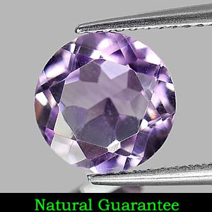 2.33 Ct. Natural Gem Purple Amethyst Round Shape From Brazil Unheated