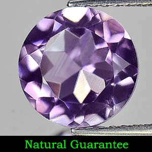 2.62 Ct. Natural Gem Purple Amethyst Round Shape From Brazil Unheated