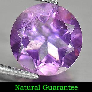 Gem 2.52 Ct. Purple Natural Amethyst Round Shape From Brazil Unheated