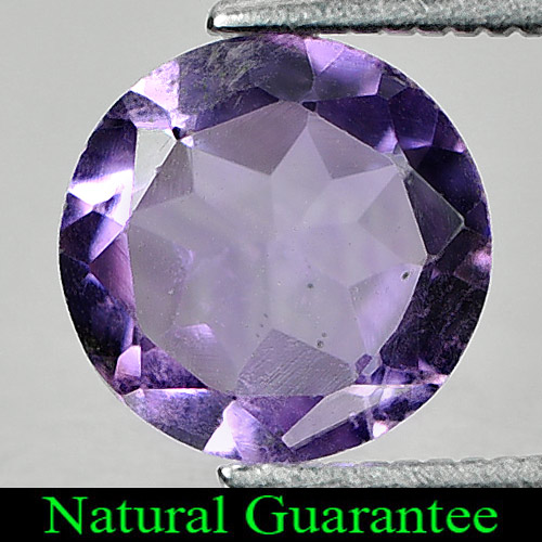 1.42 Ct. Natural Purple Amethyst Gemstone Round Shape From Brazil