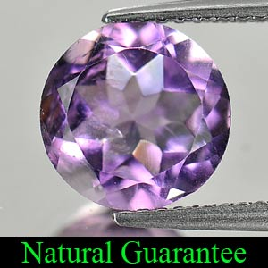 2.38 Ct. Natural Purple Amethyst Gemstone Round Shape From Brazil