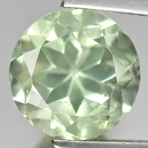 5.77 Ct. Natural Gemstone Green Amethyst Round Shape Unheated