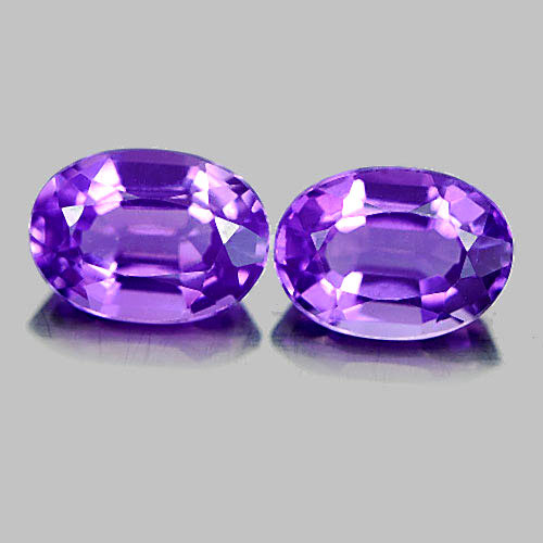 1.53 Ct. 2 Pcs. Attractive Oval Shape Natural Gems Purple Amethyst
