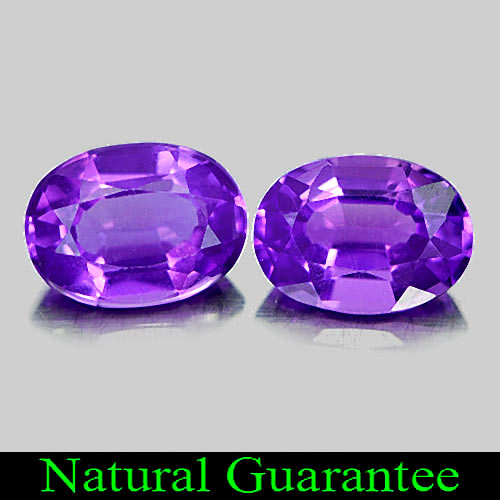 1.48 Ct. 2 Pcs. Oval Natural Gems Purple Amethyst From Brazil