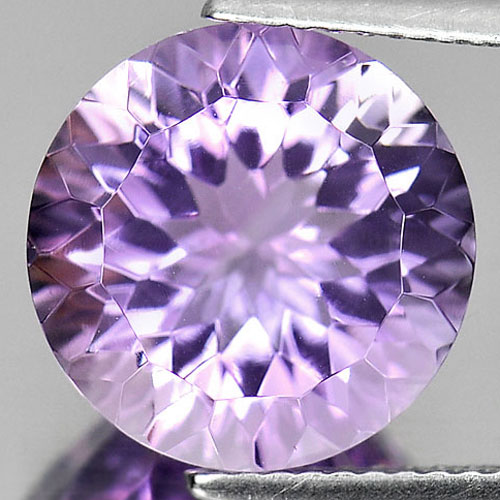 6.07 Ct. Beautiful Round Cornflower Cut Natural Clean Purple Amethyst Unheated