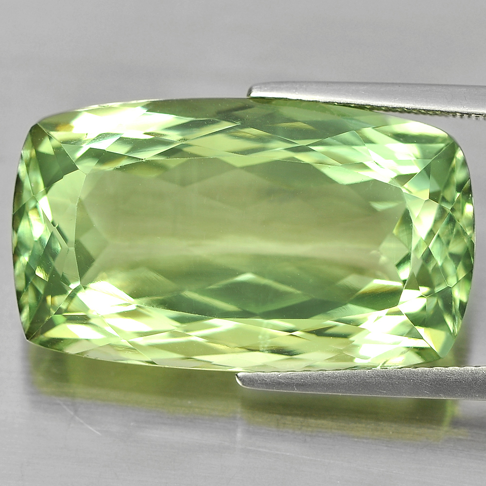 Unheated 29.25 Ct. Cushion Shape Natural Gemstone Green Amethyst From Brazil
