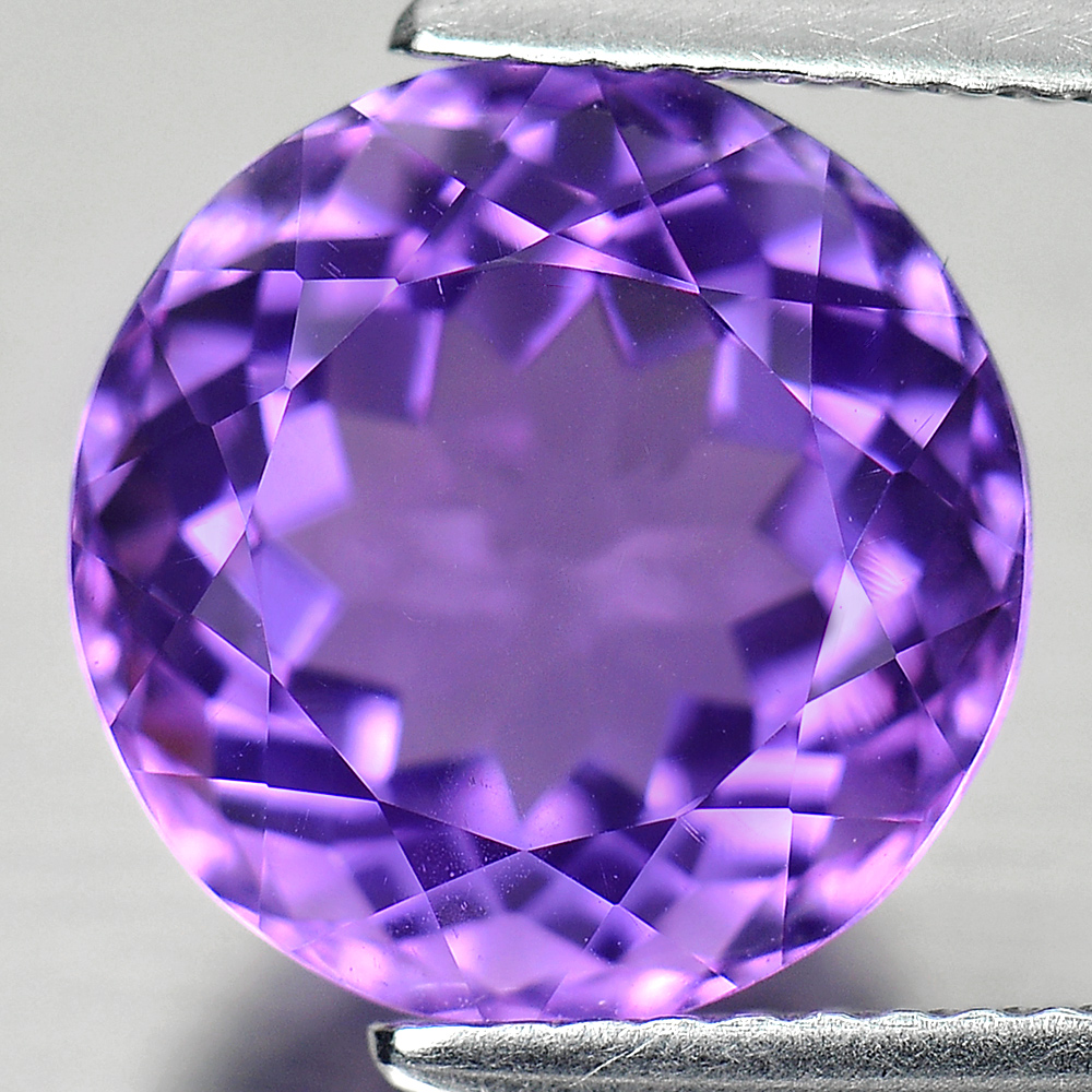 4.91 Ct. Good Round Shape Natural Gemstone Purple Amethyst From Brazil Unheated