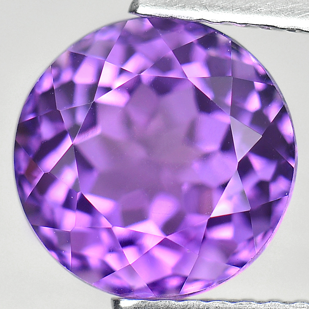 Unheated 3.09 Ct. Natural Clean Purple Amethyst Round Shape Size 9 Mm