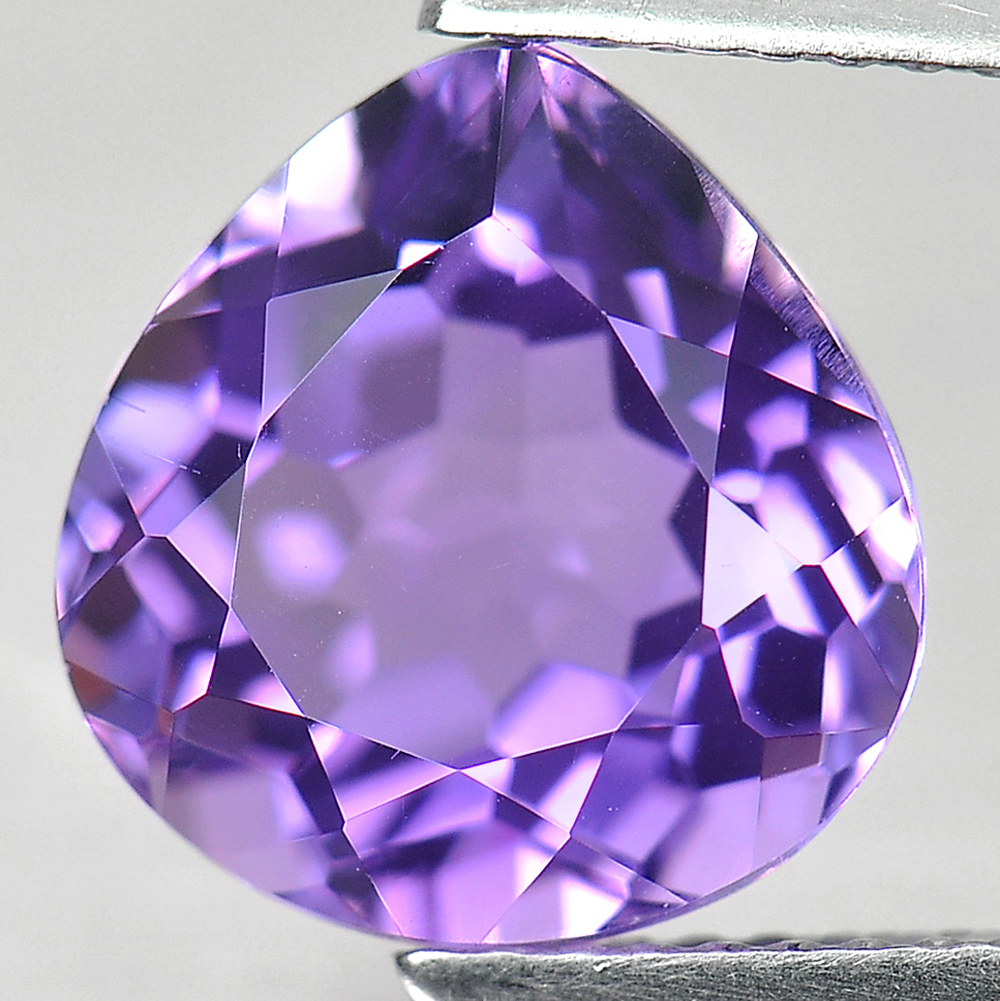 3.80 Ct. Pear Shape Natural Gemstone Purple Amethyst From Brazil Unheated