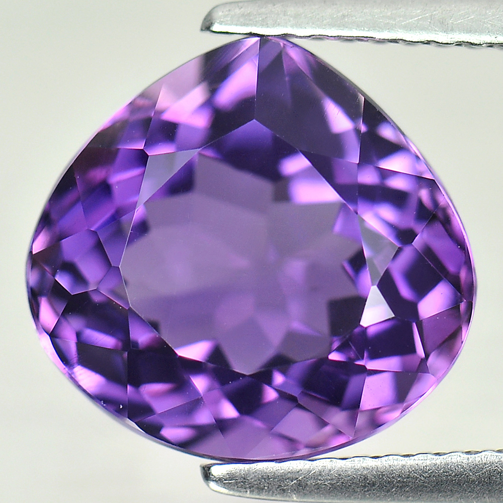 5.66 Ct.  Pear Shape 12 x 11.5 Mm. Natural Gemstone Purple Amethyst From Brazil