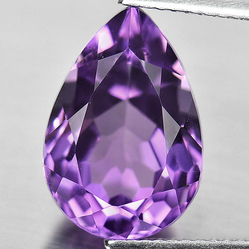 6.35 Ct. Natural Gemstone Purple Color Amethyst Pear Shape From Brazil