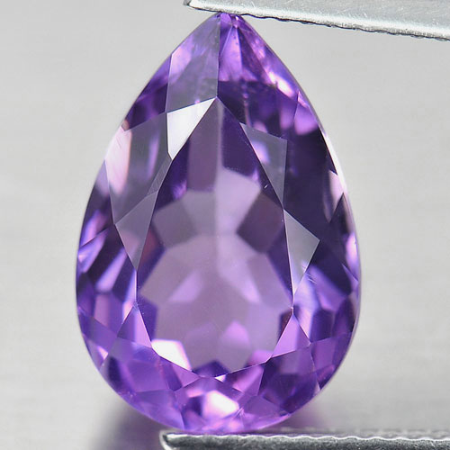 Unheated 6.37 Ct. Alluring Natural Gem Purple Amethyst Pear Shape From Brazil