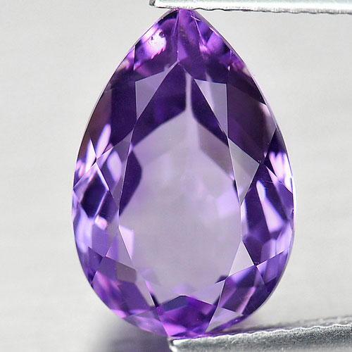 6.10 Ct. Natural Gemstone Purple Amethyst Pear Shape Size 15 x 10 Mm