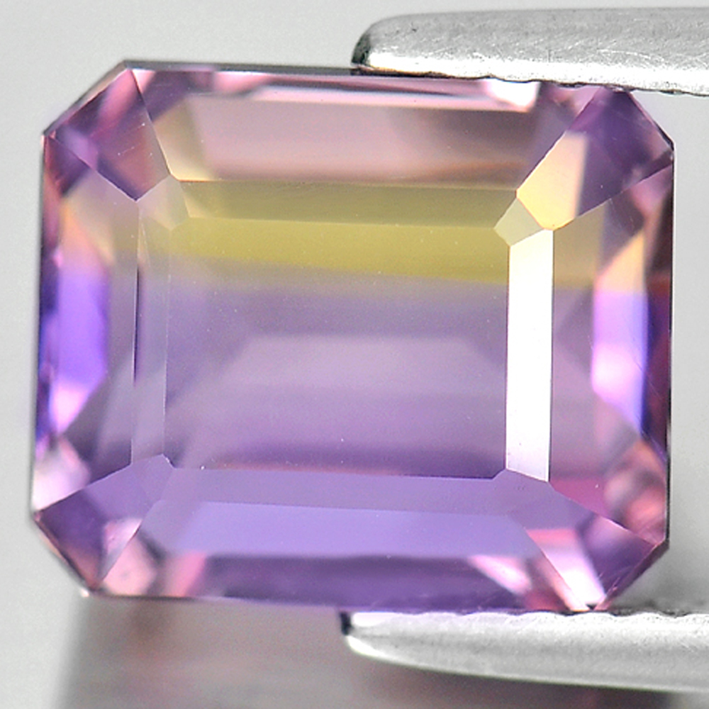 Bi Color Ametrine 5.51 Ct. Octagon Shape Natural Gemstone From Bolivia Unheated