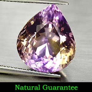 Unheated Gemstone 11.91 Ct. Pear Shape Natural Bi Color Ametrine