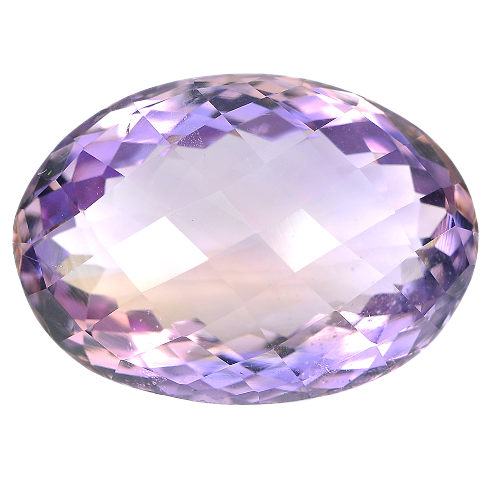 24.52 Ct. Oval Checkerboard Natural Gemstone Bi Color Ametrine From Bolivia
