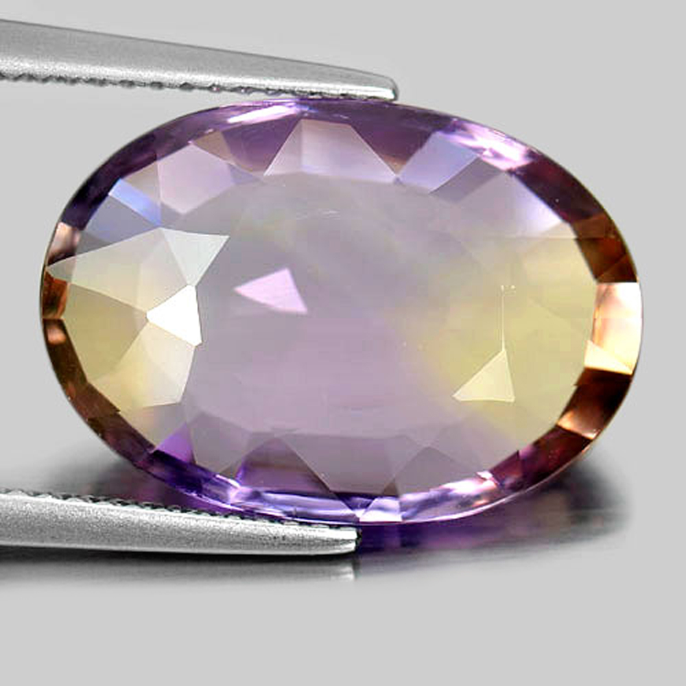Nice 8.97 Ct. Clean Oval Shape Natural Bi Color Ametrine Unheated