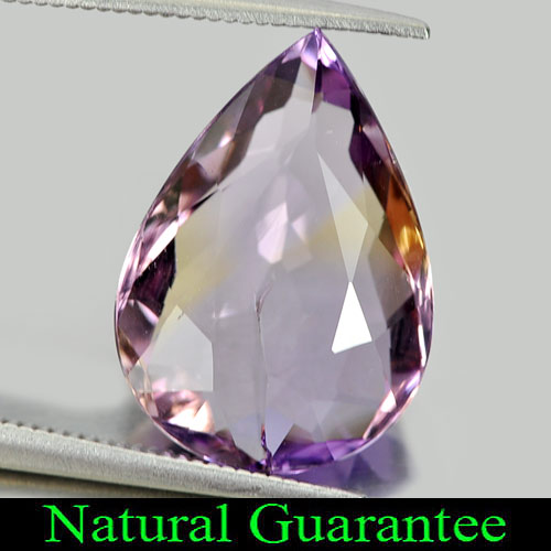 7.72 Ct. Delightful Pear Natural Gemstone Bi Color Ametrine Bolivia