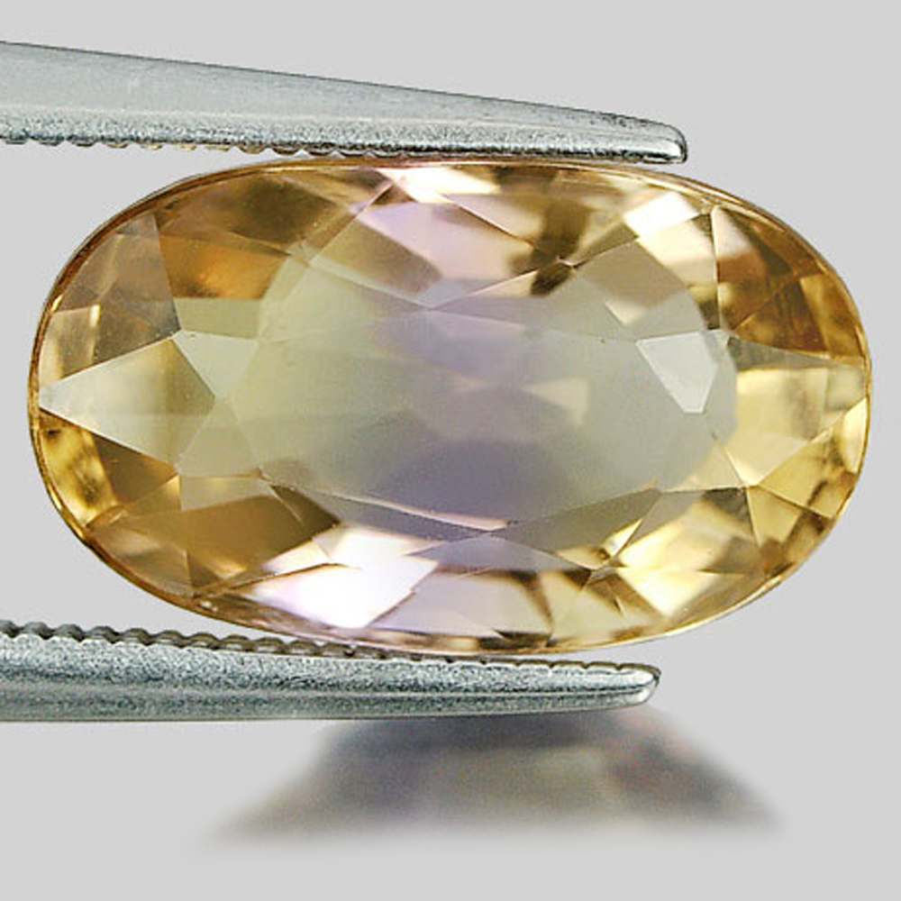 Unheated 6.97 Ct. Oval Shape Natural Gemstone Bi Color Ametrine Bolivia