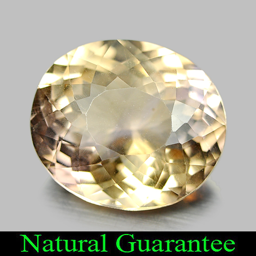 Unheated 5.52 Ct. Oval Shape Natural Gem Bi Color Ametrine Bolivia