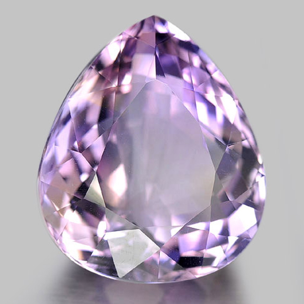 21.62 Ct. Pear Shape Natural Gemstone Clean Bi Color Ametrine Bolivia Unheated