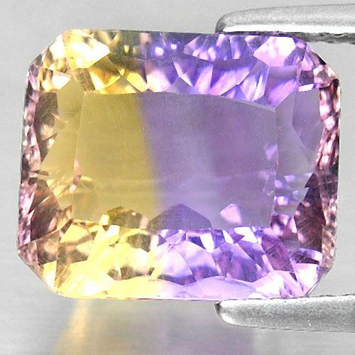 5.09 Ct. Octagon Millennium Cut Natural Bi Color Ametrine Unheated From Bolivia