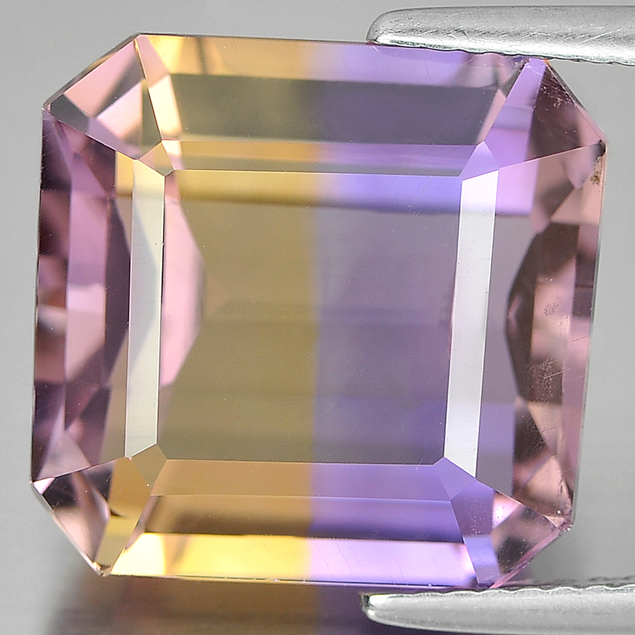 13.39 Ct. Very Good Octagon Shape Natural Bi Color Ametrine Unheated