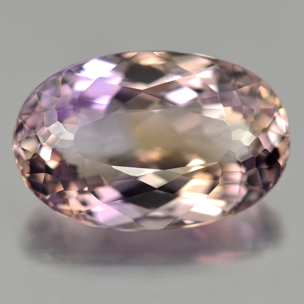 Unheated 11.03 Ct. Oval Shape Natural Gemstone Clean Bi Color Ametrine Bolivia