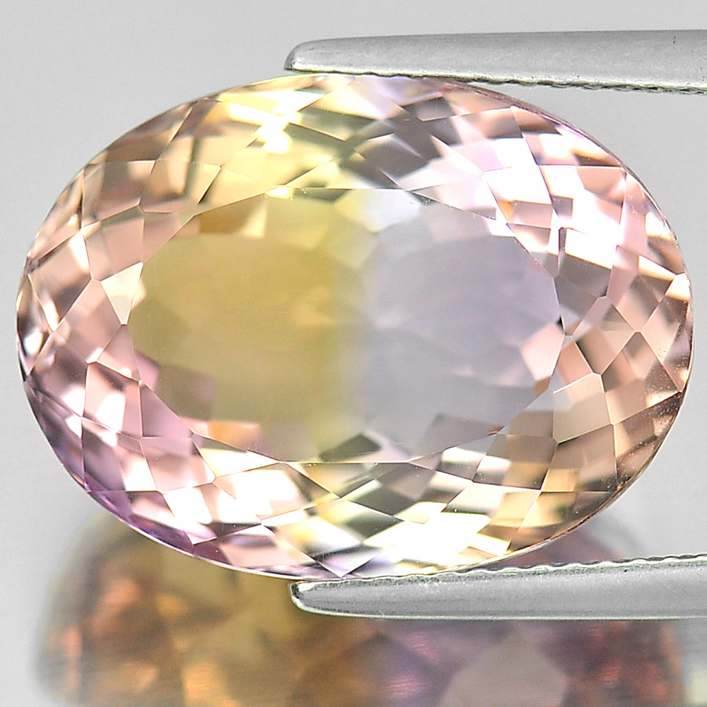 Unheated 17.30 Ct. Oval Shape Natural Gem Clean Bi Color Ametrine From Bolivia