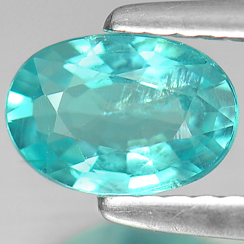 0.73Ct. Oval Cut Natural Paraiba Color Apatite Unheated