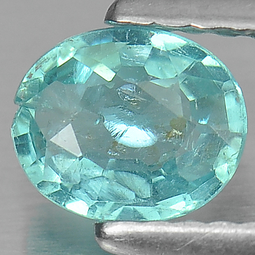 0.60 Ct. Oval Cut Natural Paraiba Color Apatite Unheated