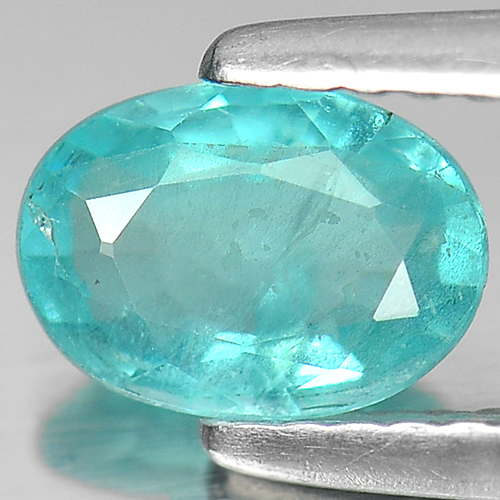 0.77 Ct. Oval Natural Paraiba Color Apatite Unheated