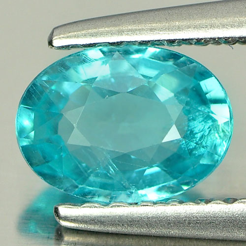 0.72 Ct. Natural Oval Paraiba Color Apatite Unheated Tanzania